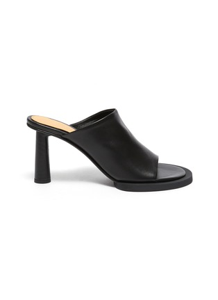 Main View - Click To Enlarge - JACQUEMUS - Les Mules Carre Rond' Mismatched Leather Mules
