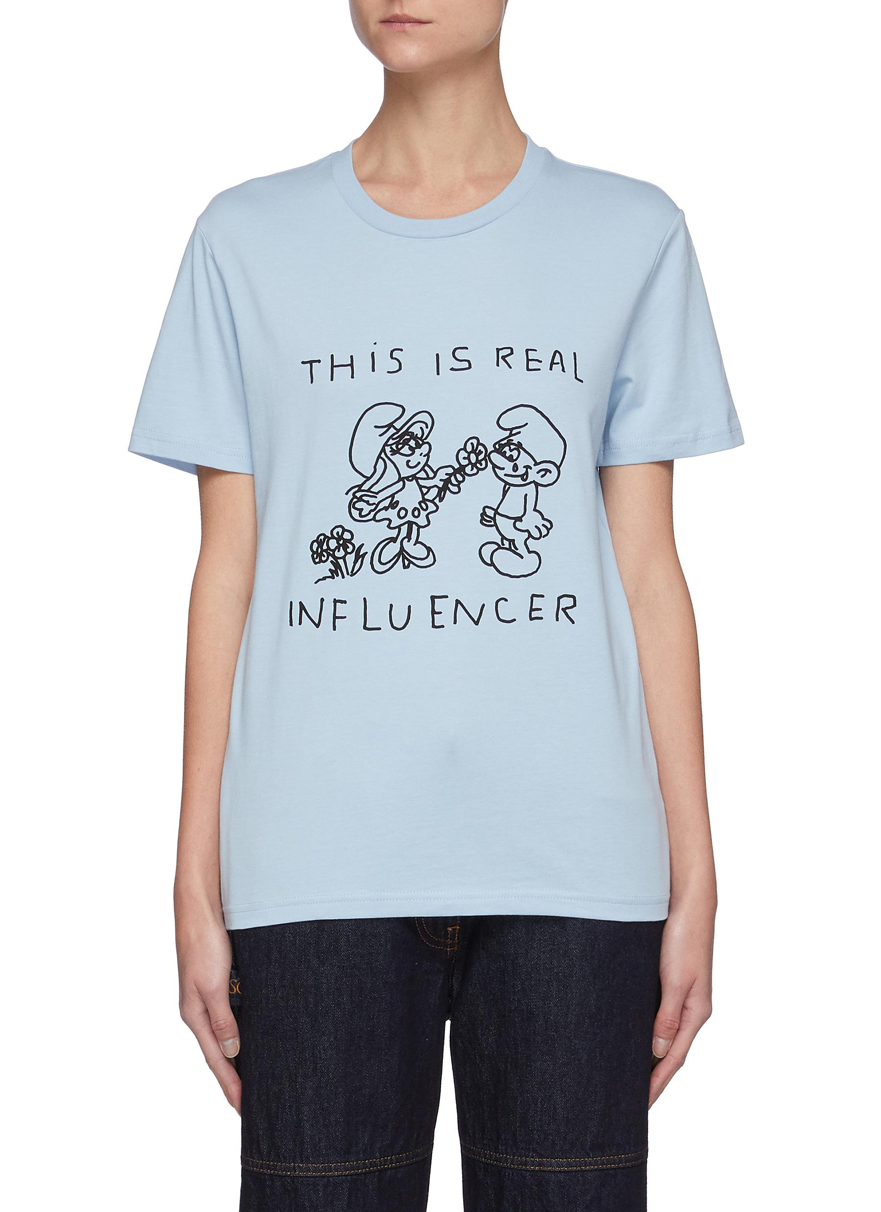"""The Smurfs """"This is Real Influencer"""" Tee"""
