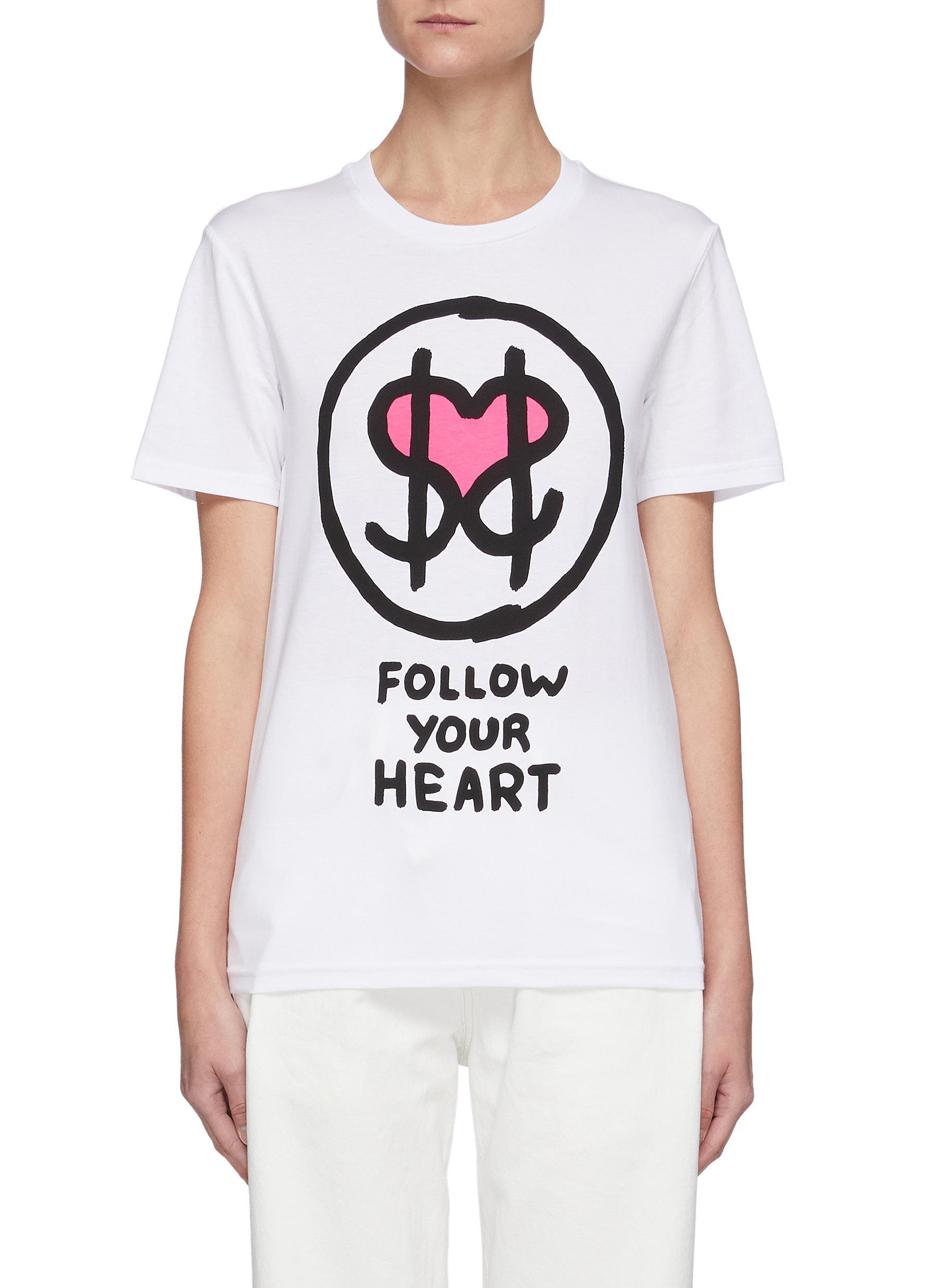 Follow Your Heart Dollar Sign Tee