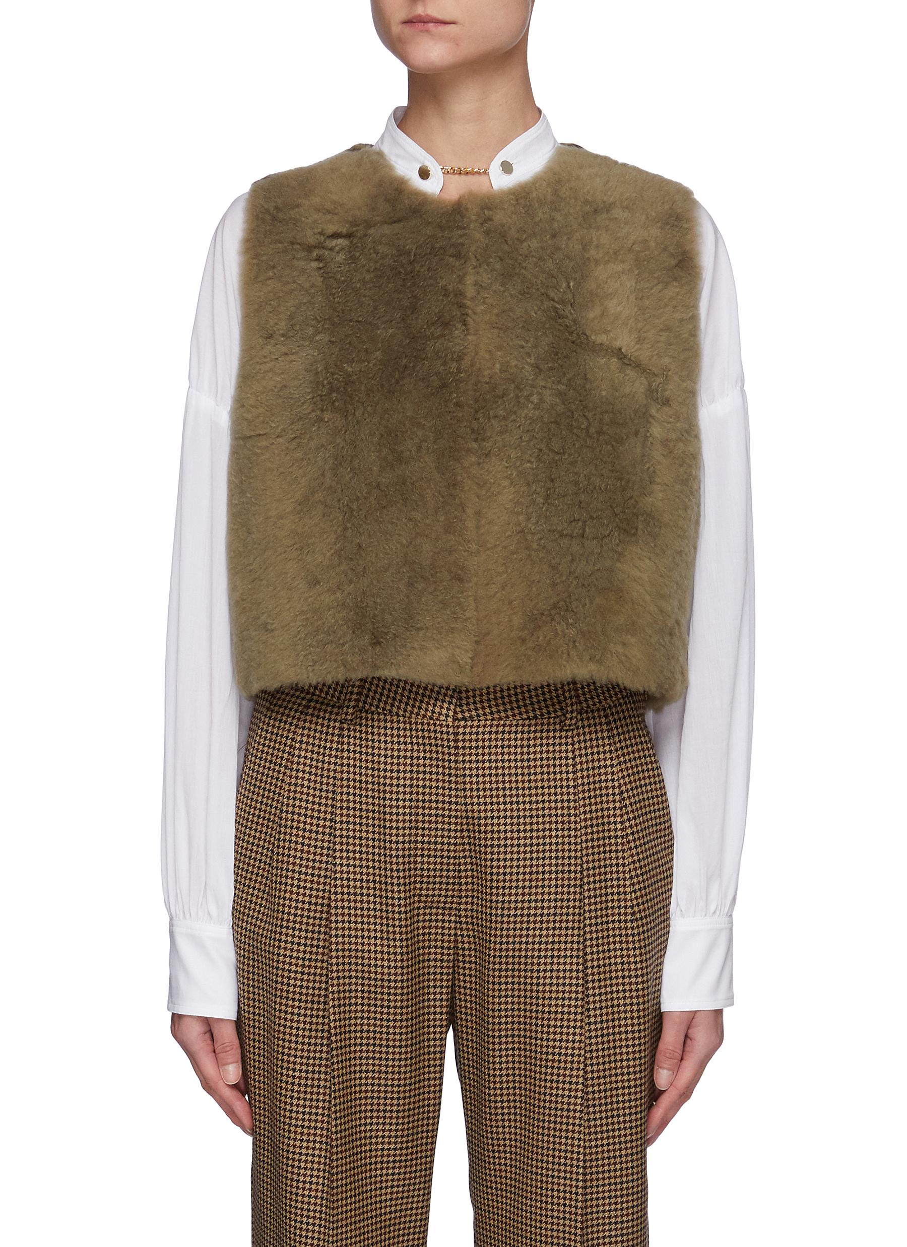 Shearling Cropped Gilet