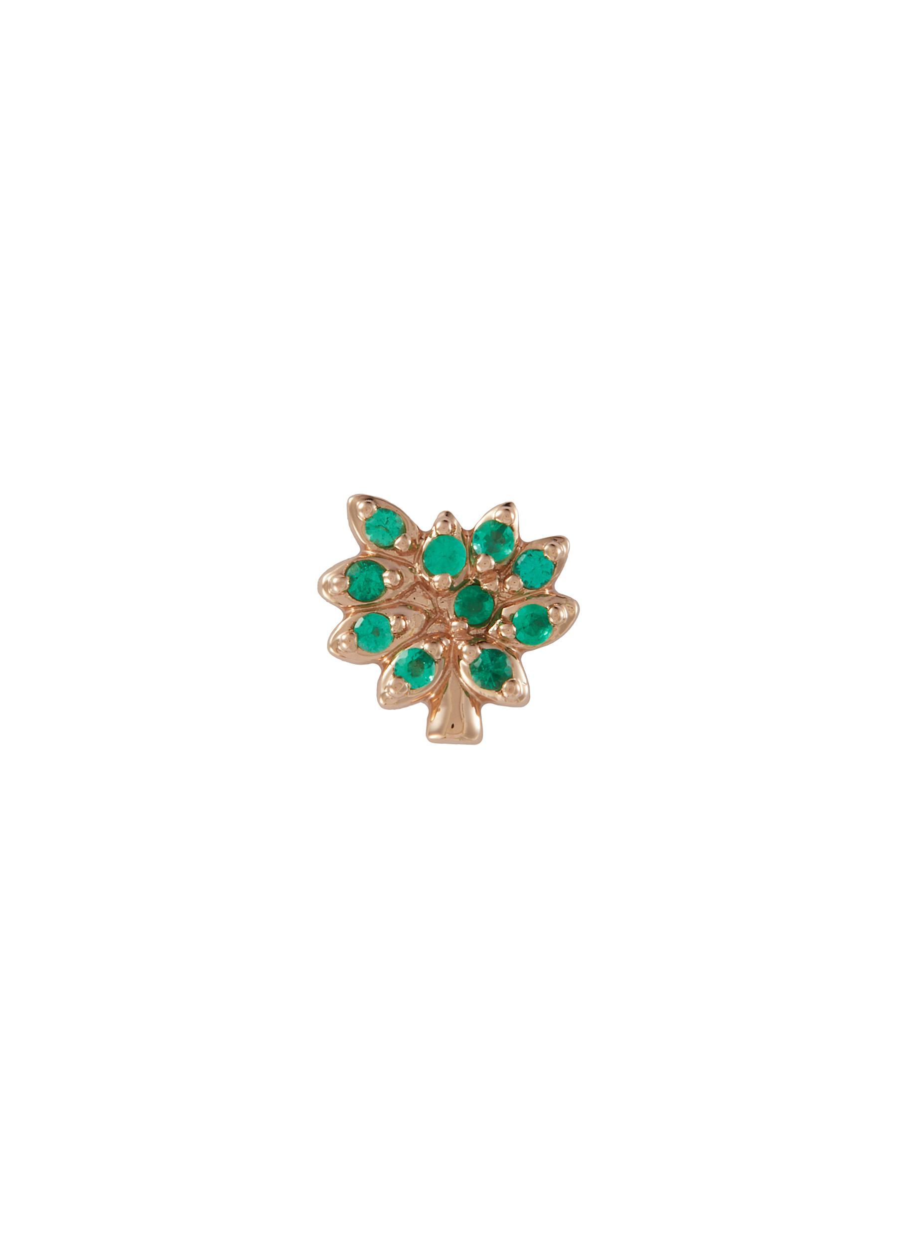 'Family Tree' Rhinestone 18k Rose Gold Charm