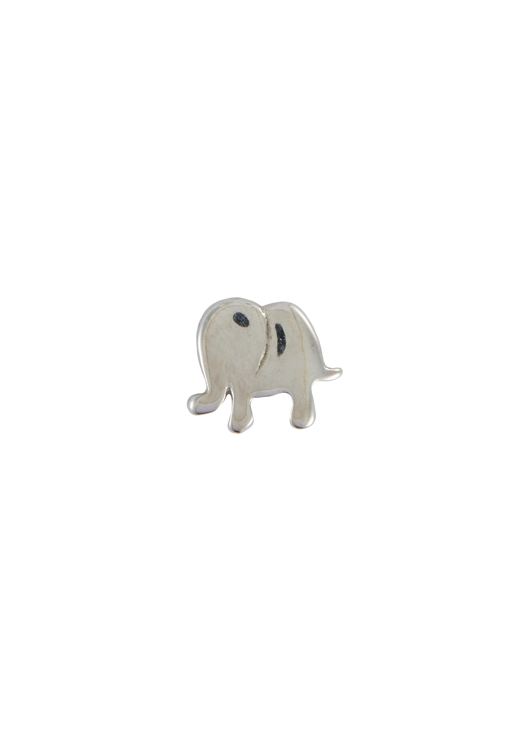 'Elephant' 18k White Gold Charm