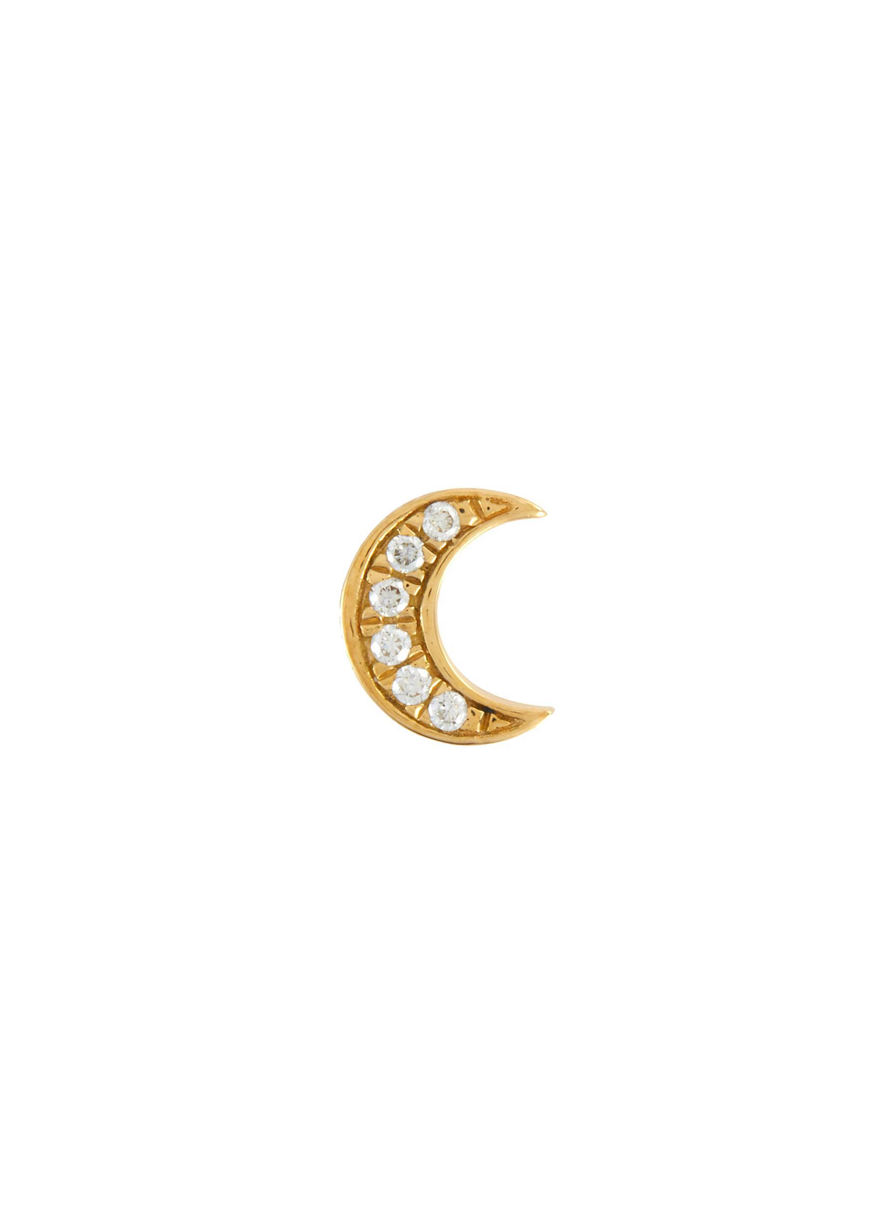 Moon Intuition Diamond 18k Yellow Gold Charm