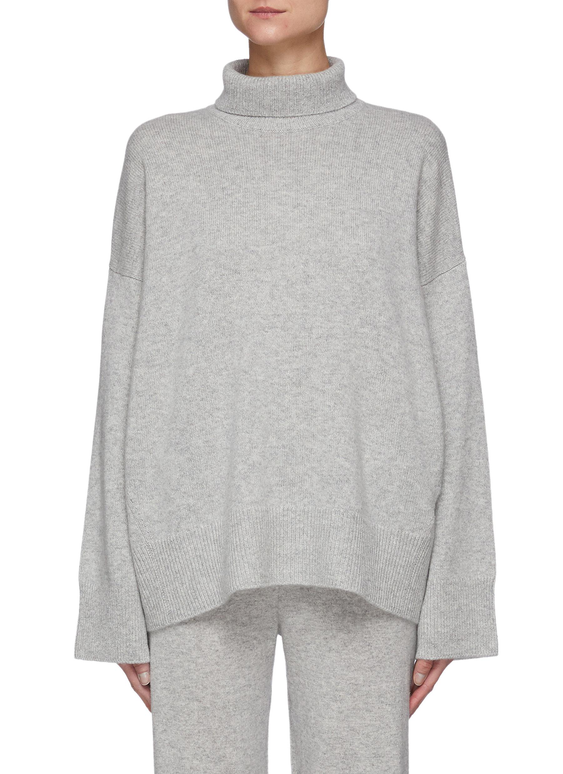 Suedes' Mid Neck Oversized Organic Cashmere Sweater