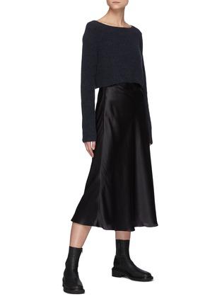 Figure View - Click To Enlarge - LE KASHA - Aksou' Flared Silk Midi Skirt