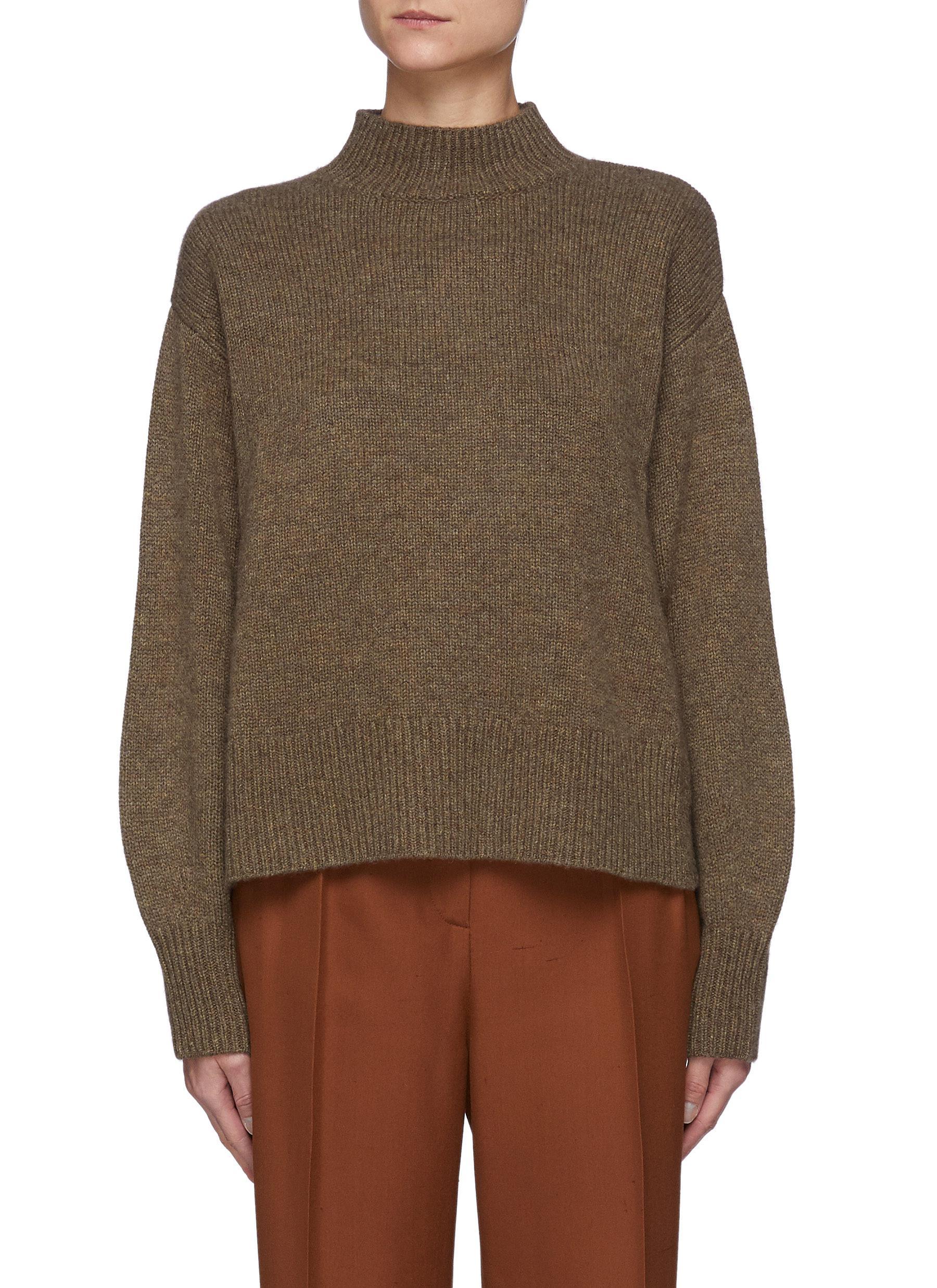 Osaka' Open Sides Low Neck Sweater