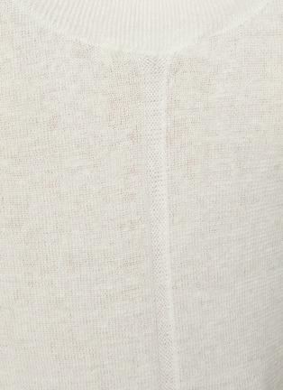 - THE ROW - Crewneck Linen Cashmere Blend Knit Tank Top