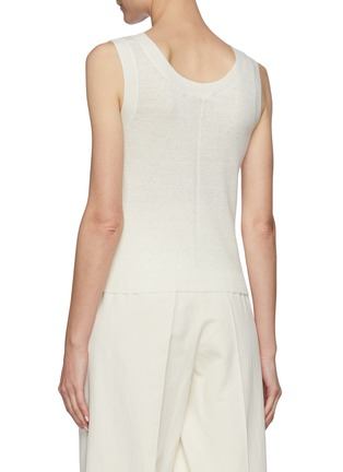 Back View - Click To Enlarge - THE ROW - Crewneck Linen Cashmere Blend Knit Tank Top
