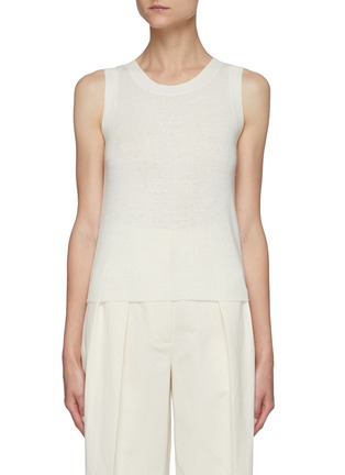 Main View - Click To Enlarge - THE ROW - Crewneck Linen Cashmere Blend Knit Tank Top