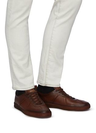 Figure View - Click To Enlarge - HENDERSON - 'Benoit' Deerskin Sneakers