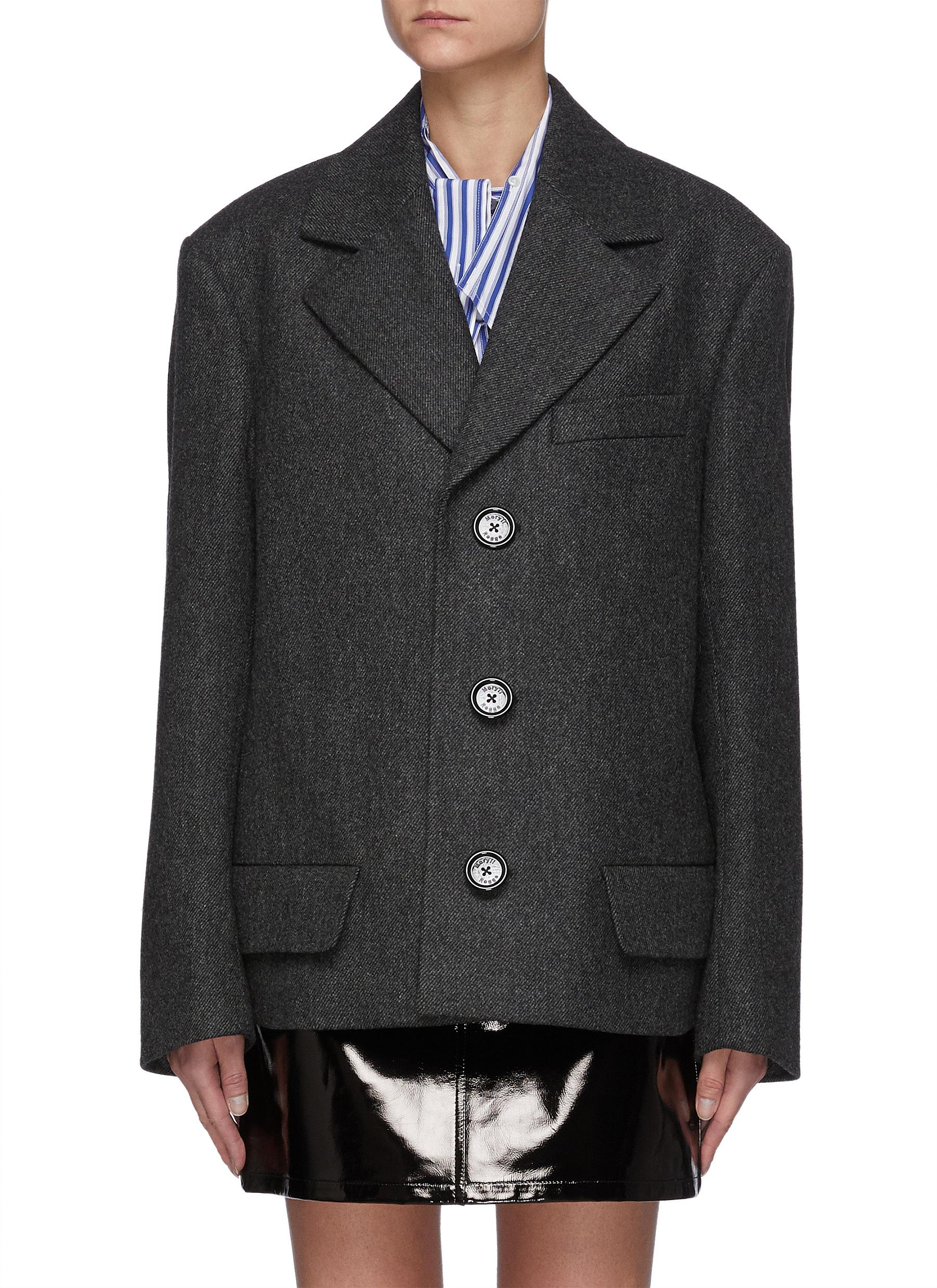 Oversized Wool Single Breasted Blazer