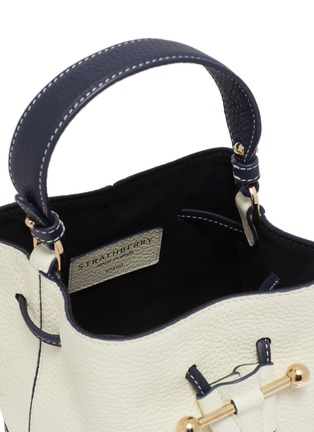 Detail View - Click To Enlarge - STRATHBERRY - LANA OSETTE' TOP HANDLE DRAWSTRING LEATHER BUCKET BAG