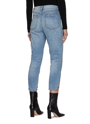Back View - Click To Enlarge - RAG & BONE/JEAN - Nina' High Rise Step Hem Cigarette Jeans