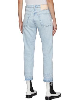 Back View - Click To Enlarge - RAG & BONE/JEAN - Maya' Frayed Hem Crop Denim Jeans