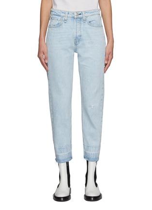 Main View - Click To Enlarge - RAG & BONE/JEAN - Maya' Frayed Hem Crop Denim Jeans