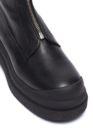 Detail View - Click To Enlarge - STUART WEITZMAN - Charlie Zip Sportlift Flatform Leather Ankle Boots