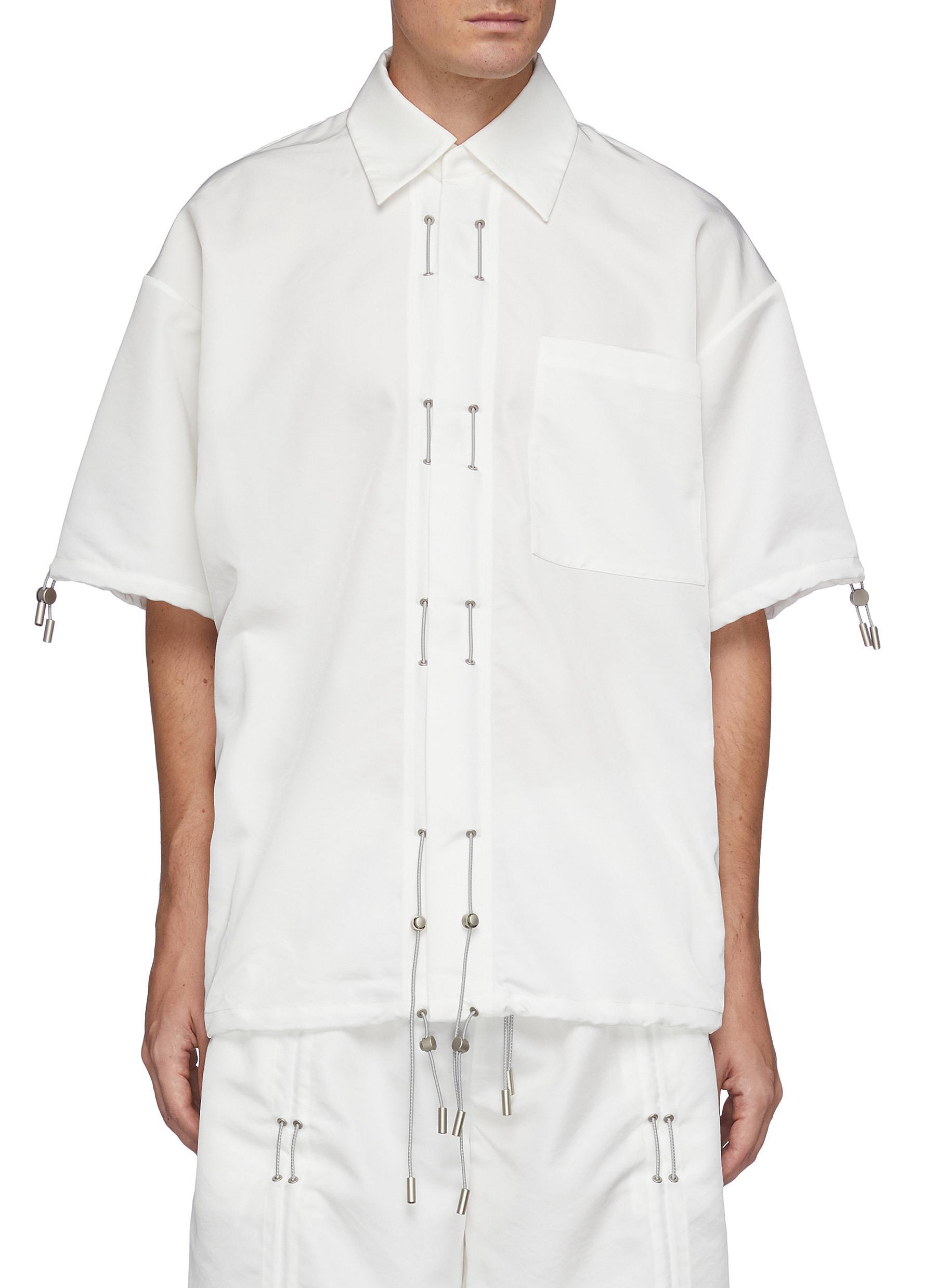 Drawstring Short Sleeved Shirt