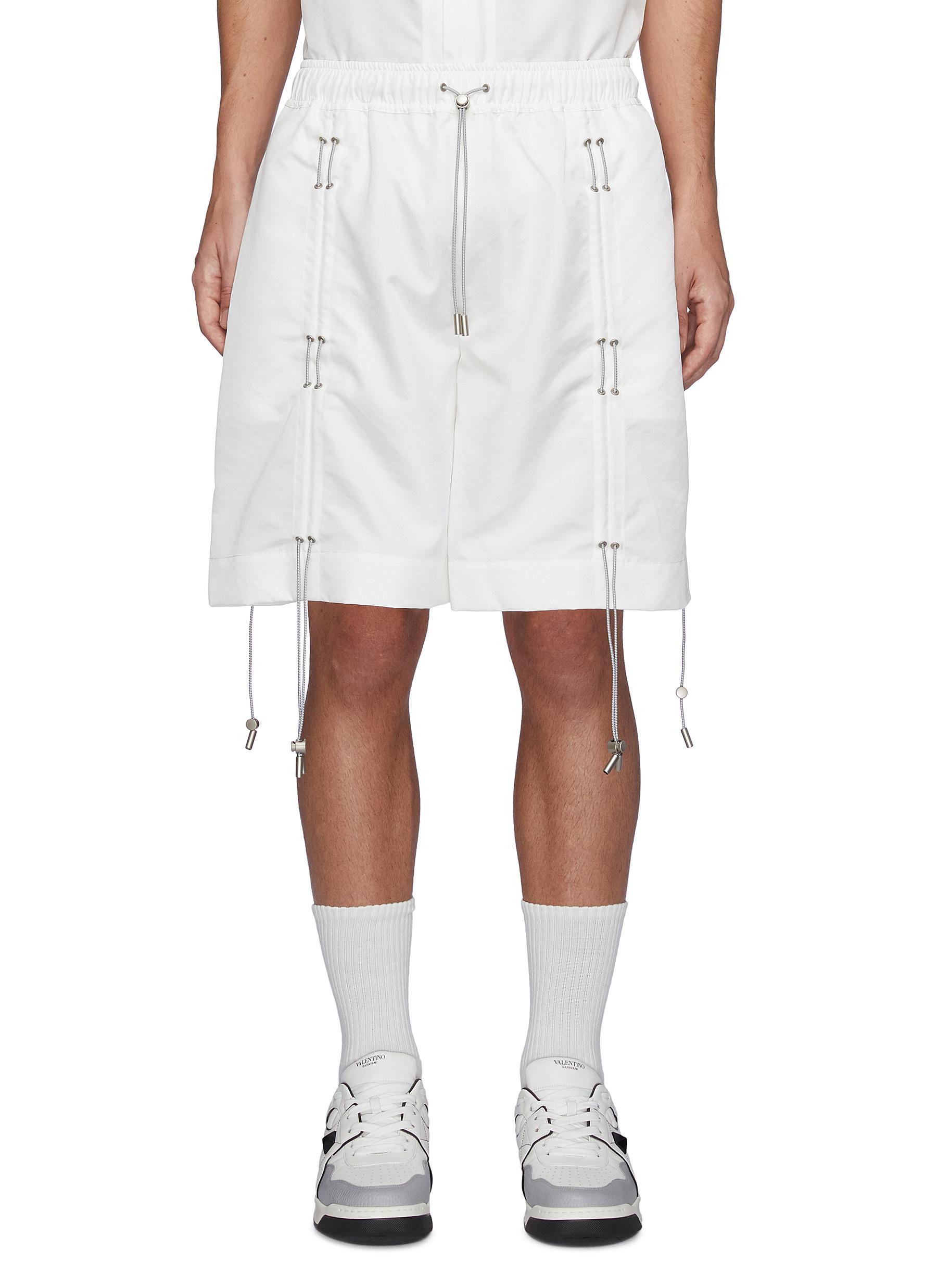 Drawstring Elastic Waist Shorts
