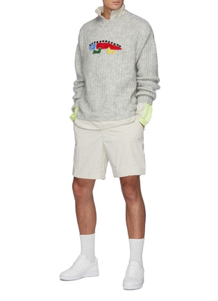 Figure View - Click To Enlarge - ANGEL CHEN - Oversize Hand Crochet Lizard Sweater