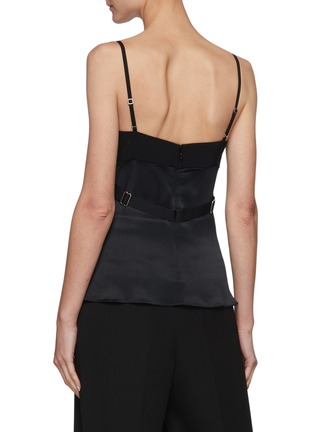 Back View - Click To Enlarge - DION LEE - Lace Panel Body Harness Cami Top