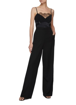 Figure View - Click To Enlarge - DION LEE - Lace Panel Body Harness Cami Top