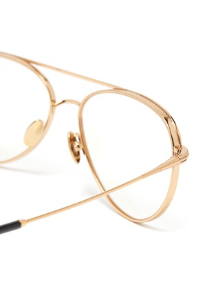 Detail View - Click To Enlarge - TOM FORD - Double Bridge Titanium Aviator Optical Glasses