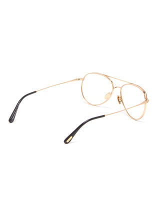 Figure View - Click To Enlarge - TOM FORD - Double Bridge Titanium Aviator Optical Glasses