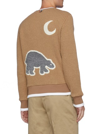 Back View - Click To Enlarge - THOM BROWNE - Bear Embroidered Patch Sweatshirt