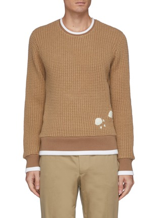 Main View - Click To Enlarge - THOM BROWNE - Bear Embroidered Patch Sweatshirt
