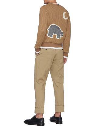 Figure View - Click To Enlarge - THOM BROWNE - Bear Embroidered Patch Sweatshirt
