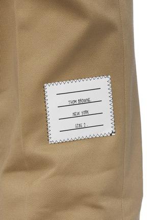 - THOM BROWNE - Logo Tab Cotton Twill Chino Pants
