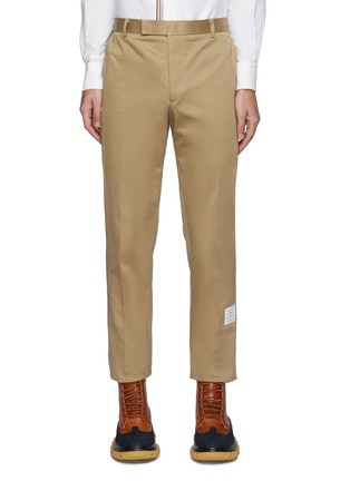 Main View - Click To Enlarge - THOM BROWNE - Logo Tab Cotton Twill Chino Pants