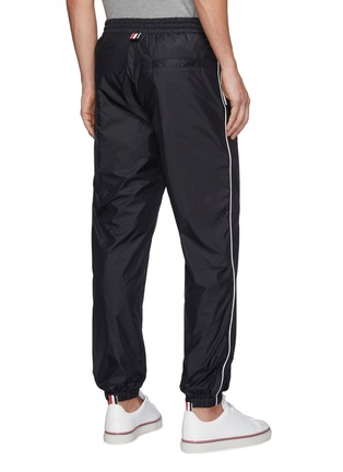 Back View - Click To Enlarge - THOM BROWNE - Contrast Side Stripe Flyweight Tech Jogger Pants