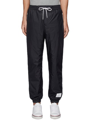 Main View - Click To Enlarge - THOM BROWNE - Contrast Side Stripe Flyweight Tech Jogger Pants