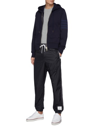Figure View - Click To Enlarge - THOM BROWNE - Contrast Side Stripe Flyweight Tech Jogger Pants