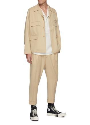 Figure View - Click To Enlarge - RE: BY MAISON SANS TITRE - Four Pocket Wool Jacket