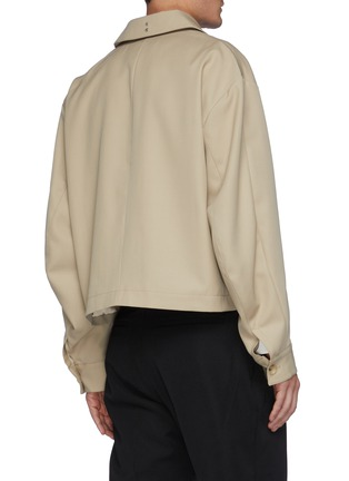 Back View - Click To Enlarge - RE: BY MAISON SANS TITRE - Flap Pocket Wool Jacket