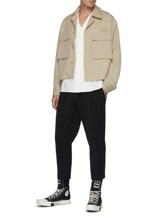 Figure View - Click To Enlarge - RE: BY MAISON SANS TITRE - Flap Pocket Wool Jacket