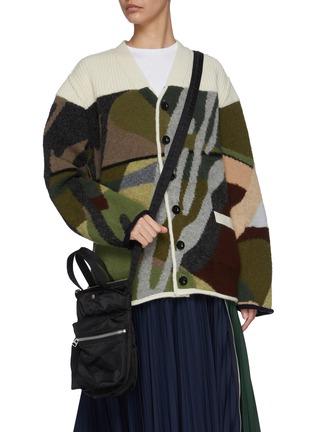 Figure View - Click To Enlarge - SACAI - Nylon Crossbody Pocket Bag