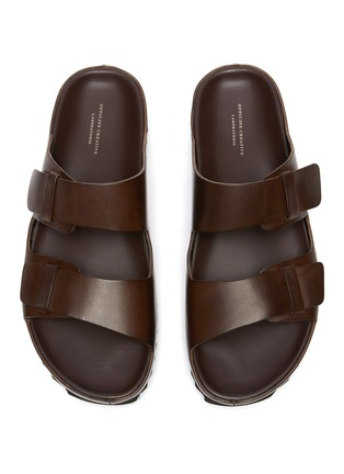 Detail View - Click To Enlarge - OFFICINE CREATIVE - Agorà' double strap leather sandals