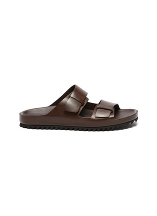 Main View - Click To Enlarge - OFFICINE CREATIVE - Agorà' double strap leather sandals