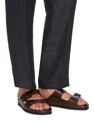 Figure View - Click To Enlarge - OFFICINE CREATIVE - Agorà' double strap leather sandals