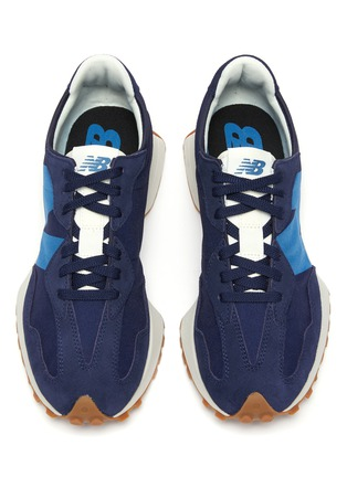 Detail View - Click To Enlarge - NEW BALANCE - 327 Refined Learning Suede Panelled Nylon Sneakers