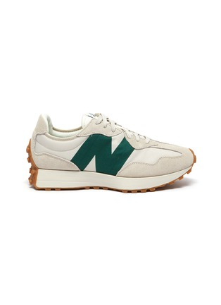 Main View - Click To Enlarge - NEW BALANCE - 327 Refined Learning Suede Panelled Nylon Sneakers