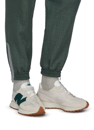 Figure View - Click To Enlarge - NEW BALANCE - 327 Refined Learning Suede Panelled Nylon Sneakers