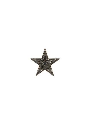 Main View - Click To Enlarge - BEE GODDESS - Black Diamond 14k Rose Gold Star Stud single earring
