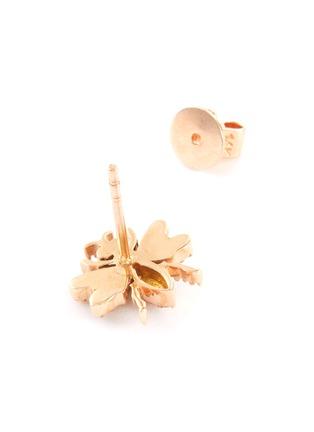 Detail View - Click To Enlarge - BEE GODDESS - Diamond 14k Rose Gold Bee Stud Earrings