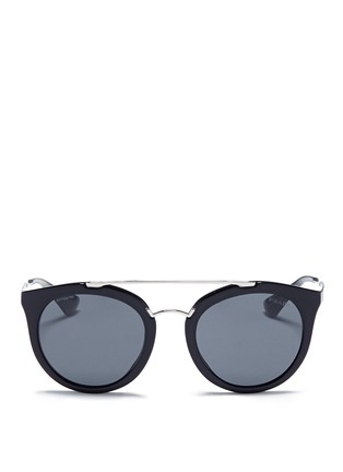 Main View - Click To Enlarge - Prada - Tortoiseshell effect acetate cat eye sunglasses