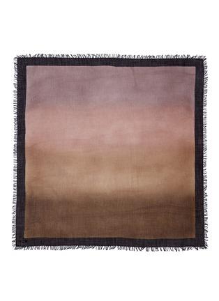 Main View - Click To Enlarge - FALIERO SARTI - Ombré cashmere-silk border scarf