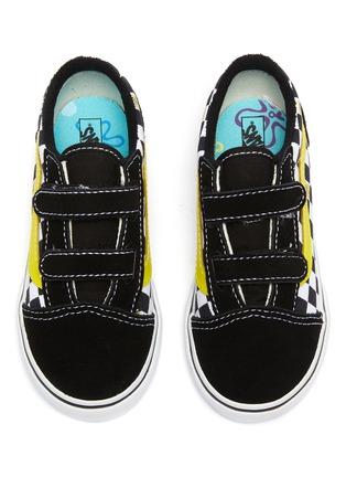 Detail View - Click To Enlarge - VANS - x SpongeBob SquarePants 'Old Skool' Checkboard Print Canvas Toddler Sneakers